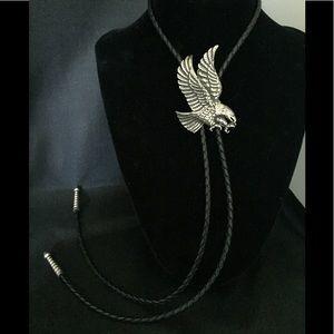 Vintage Eagle 🦅 Leather Bolo Tie